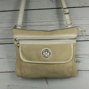 Relic Crossbody Purse Cream Tweed